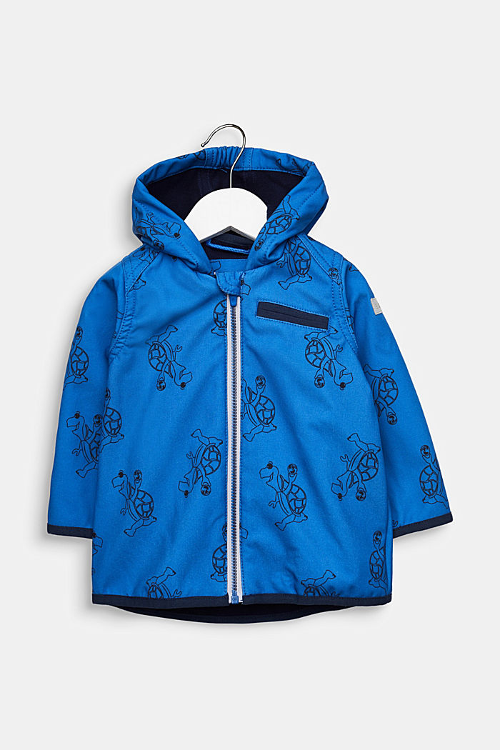 Softshell jacket with fleece on the inside, ELECTRIC BLUE, detail image number 0