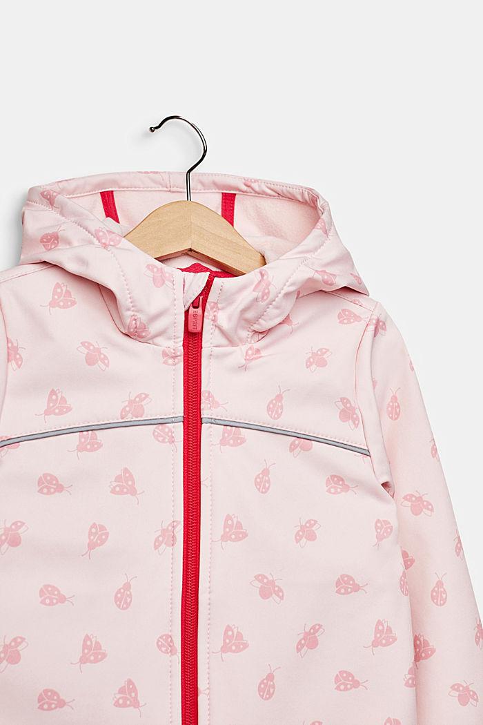 Softshell-Jacke mit Fleece-Innenseite, LIGHT PINK, detail image number 2