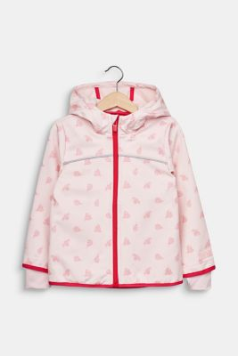 Softshell jacket with fleece on the inside, LIGHT PINK, detail