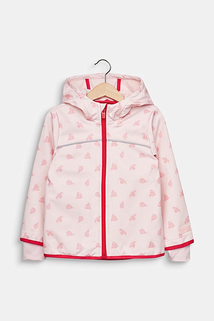 Softshell-Jacke mit Fleece-Innenseite, LIGHT PINK, detail image number 0