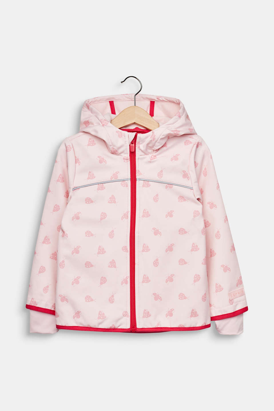 Softshell jacket with fleece on the inside, LIGHT PINK, detail image number 0