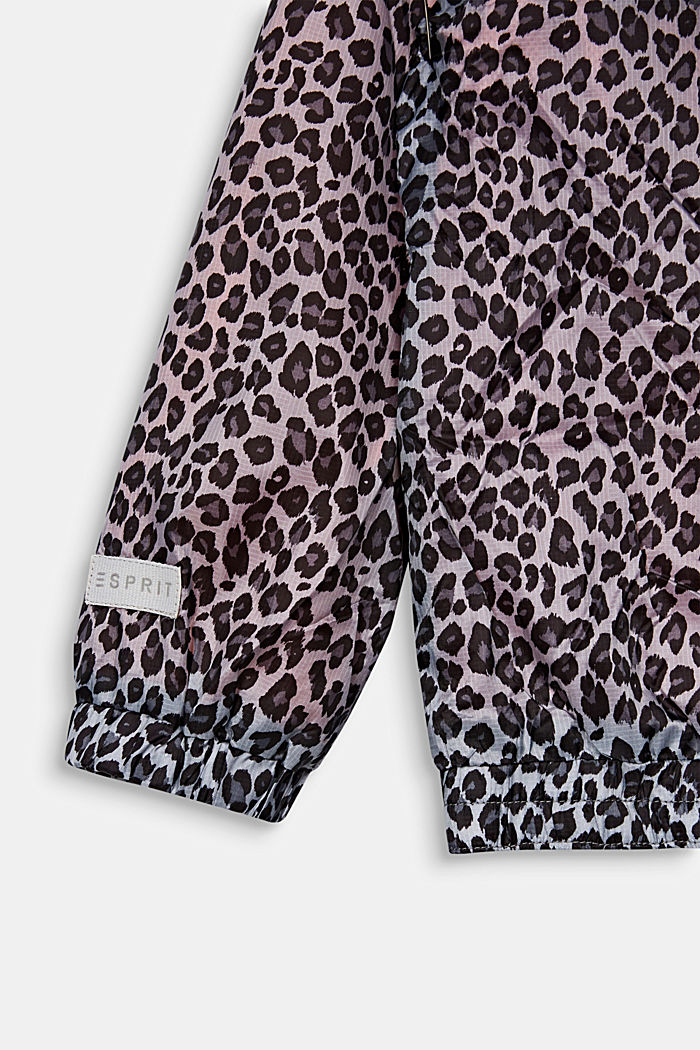 Windbreaker with a leopard print, ANTHRACITE, detail image number 2