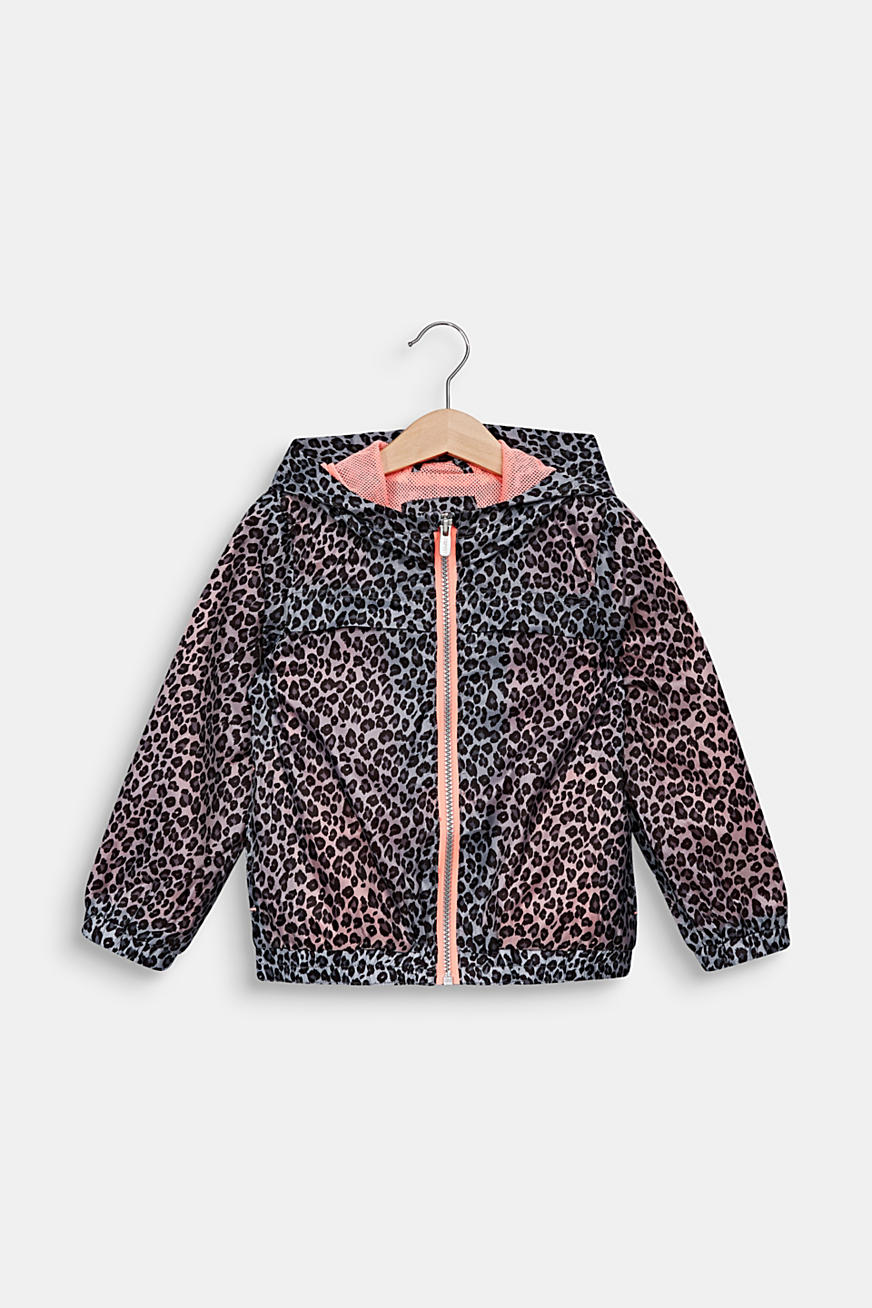 Windbreaker med leopardprint