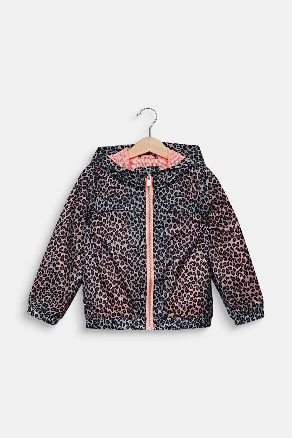 Esprit - Windbreaker med leopardprint