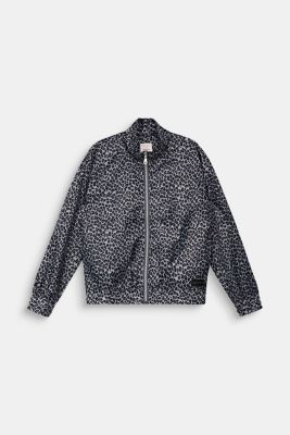 Windbreaker with a leopard print, ANTHRACITE, detail