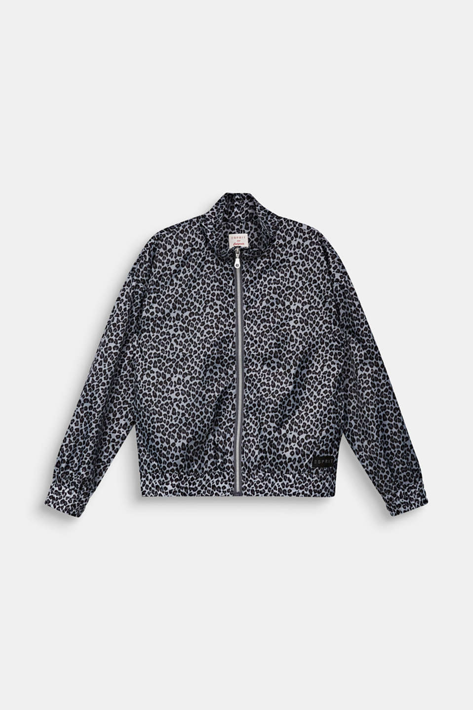 Esprit - Windbreaker with a leopard print