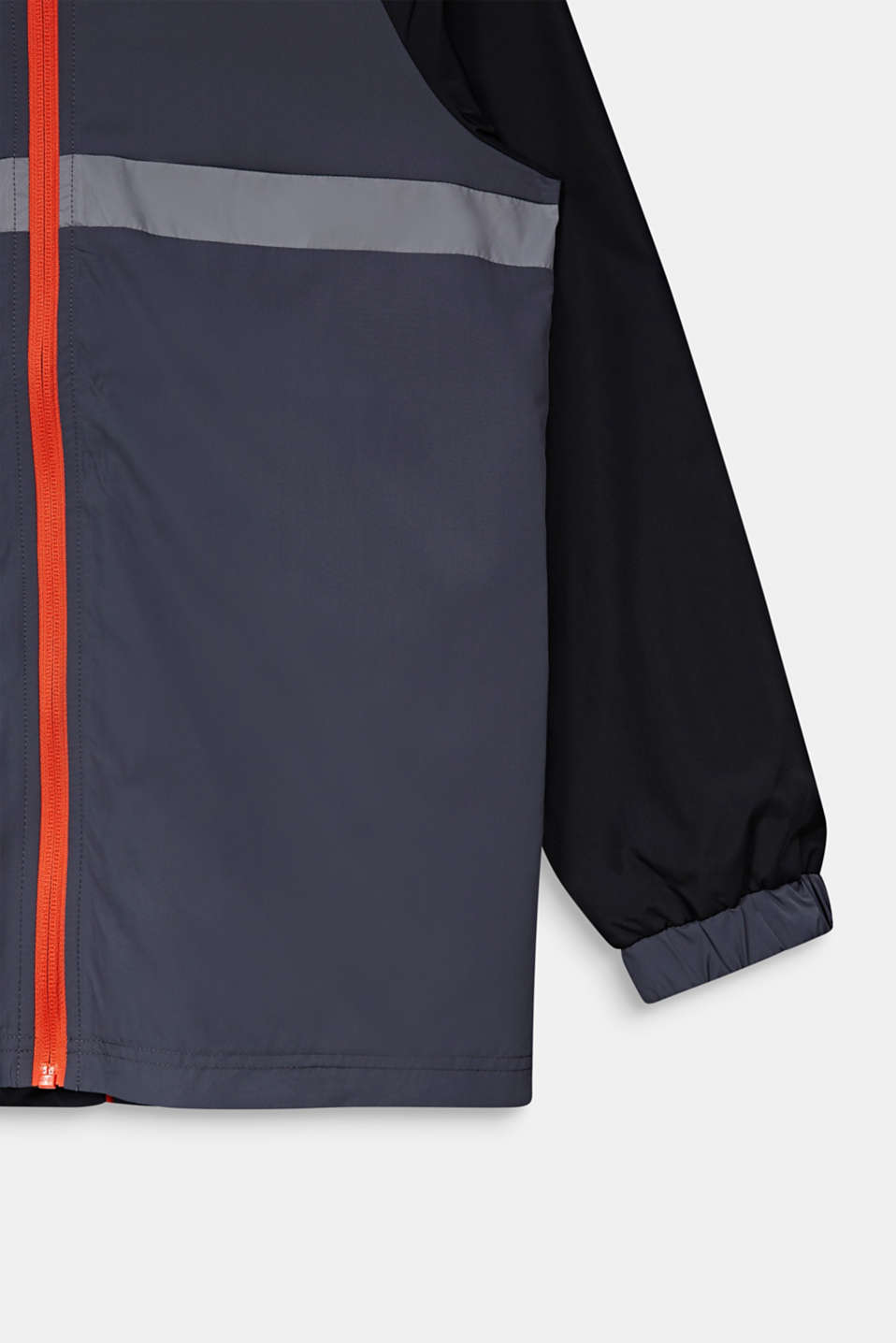 Reflective windbreaker with a hood, LCANTHRACITE, detail image number 3