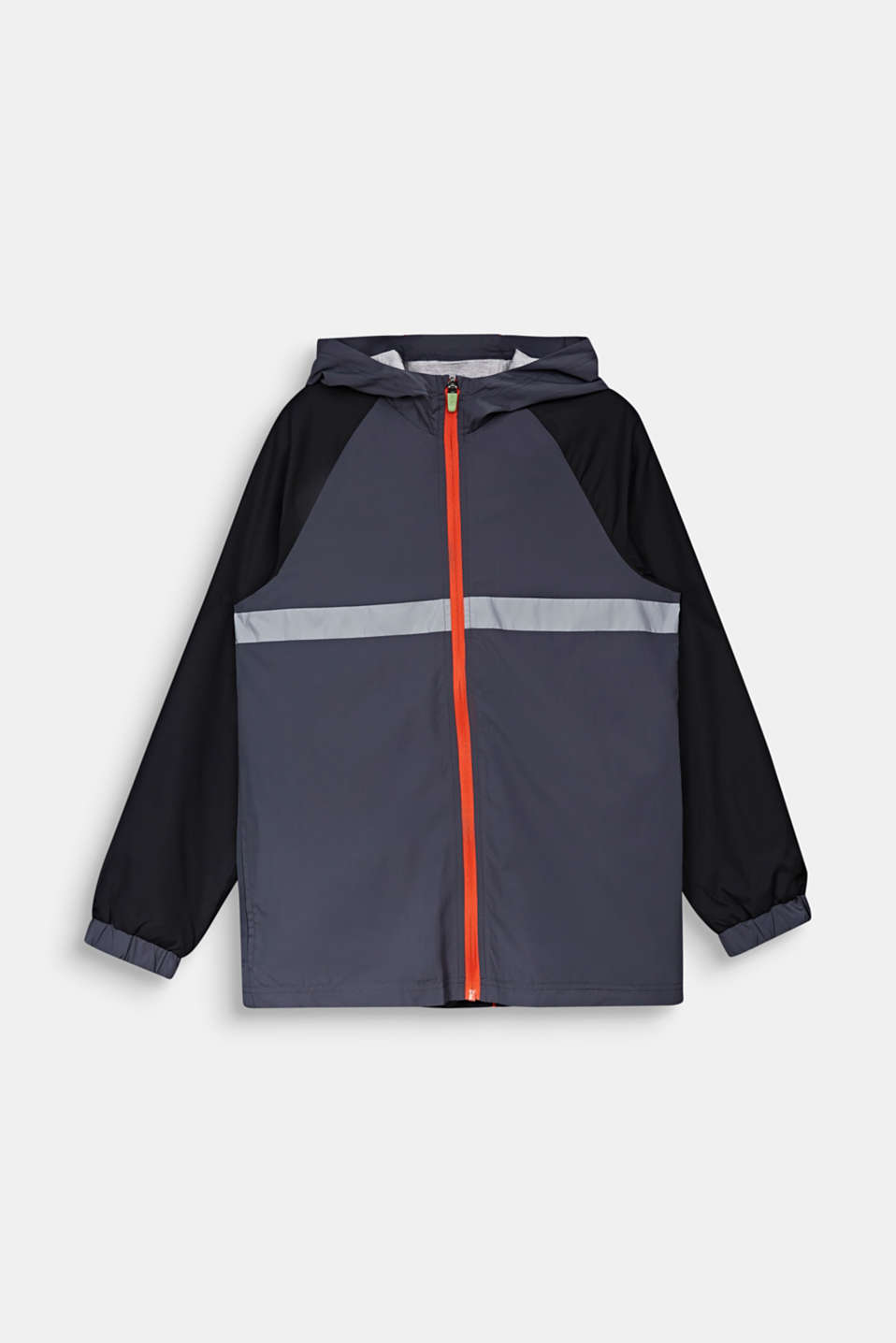 Reflective windbreaker with a hood, LCANTHRACITE, detail image number 0