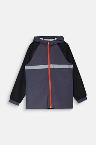 Reflective windbreaker with a hood