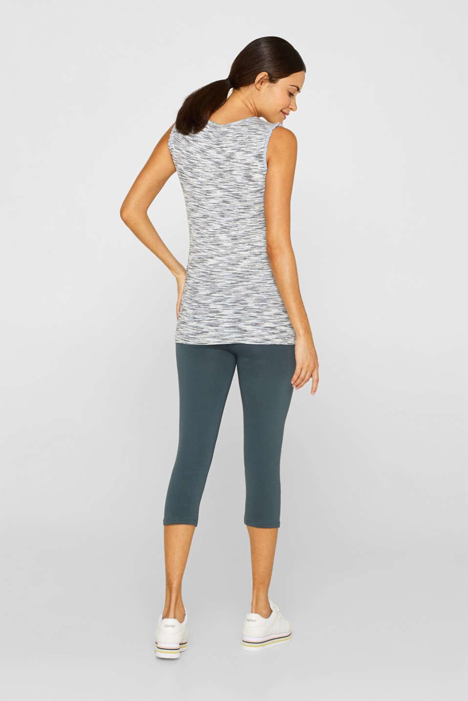 Capri leggings + under-bump waistband, LCMALADIVE BLUE, detail image number 4