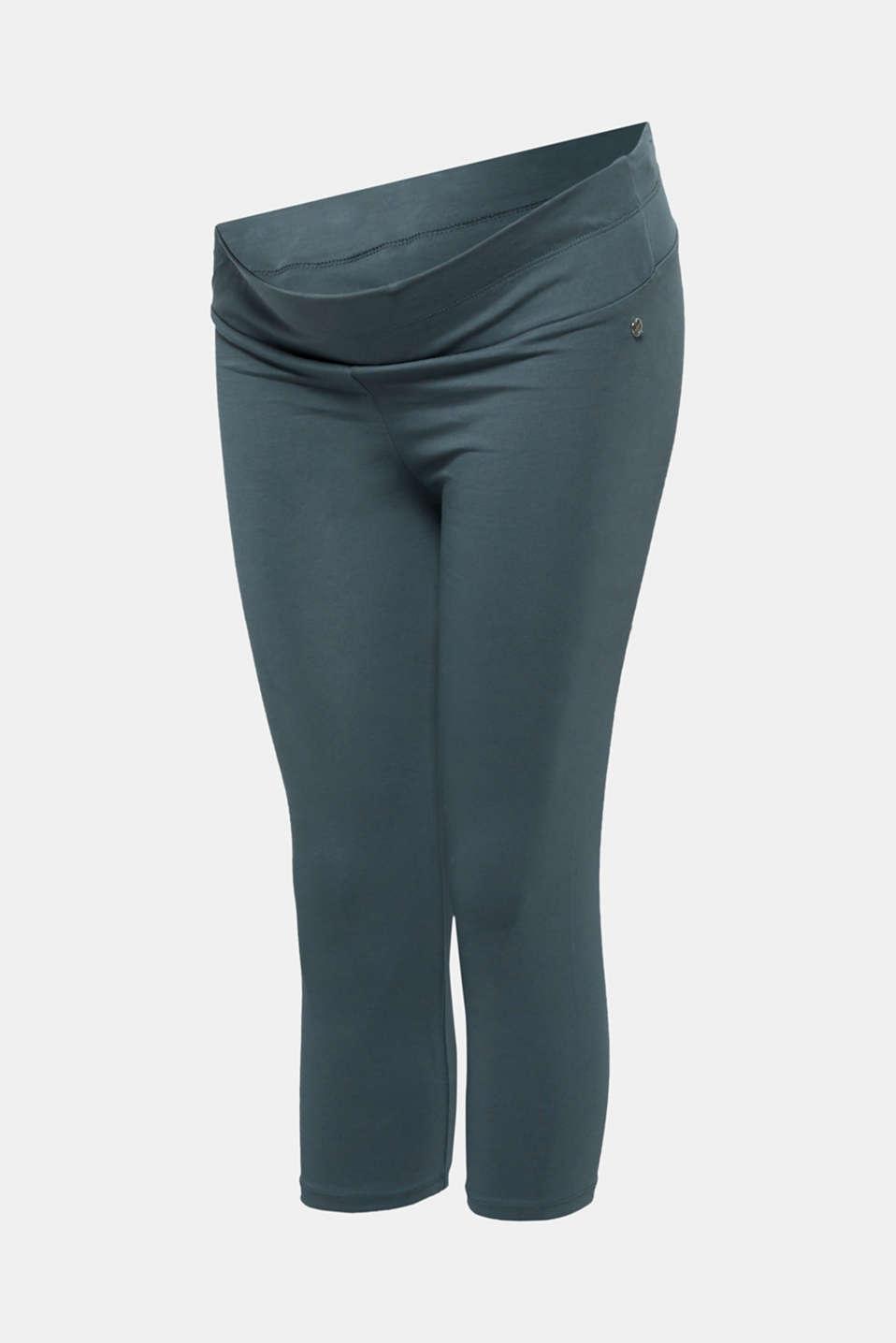 Capri leggings + under-bump waistband, LCMALADIVE BLUE, detail image number 3