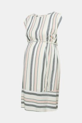 Dress with a modern stripe pattern, LCMALADIVE BLUE, detail