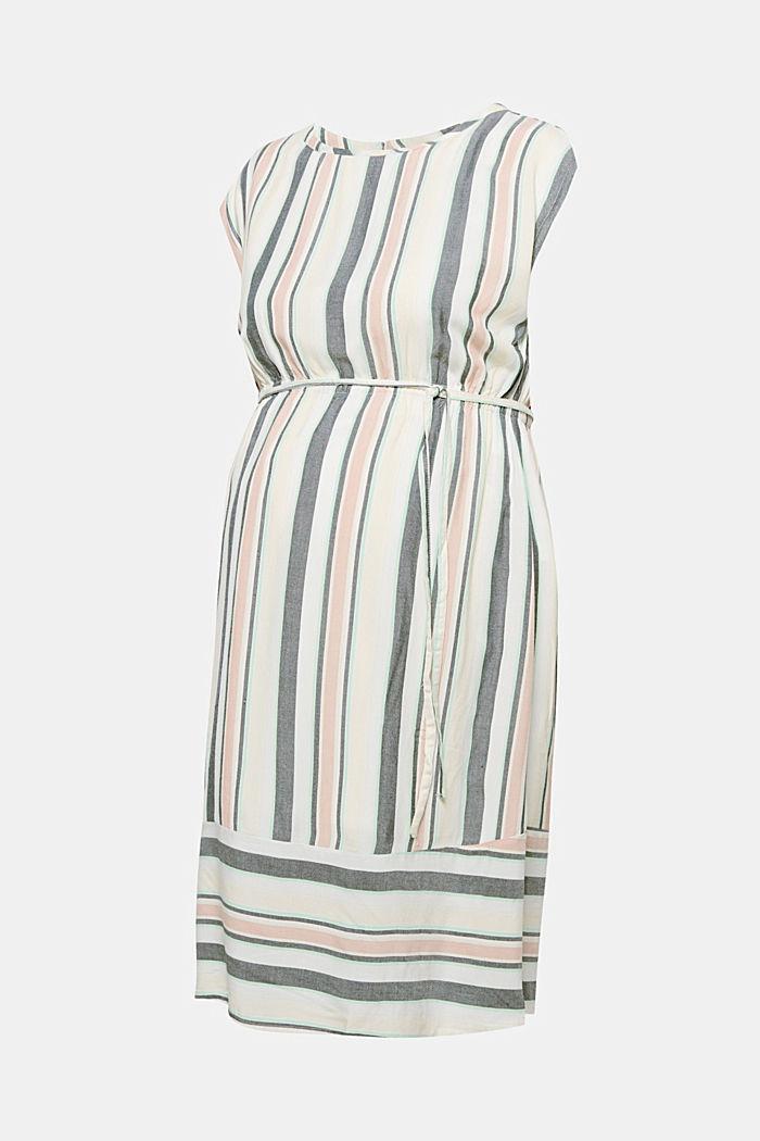 Kleid mit modernem Streifen-Dessin