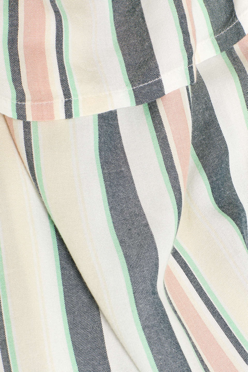 Woven top with stripes and frills, LCMALADIVE BLUE, detail image number 4