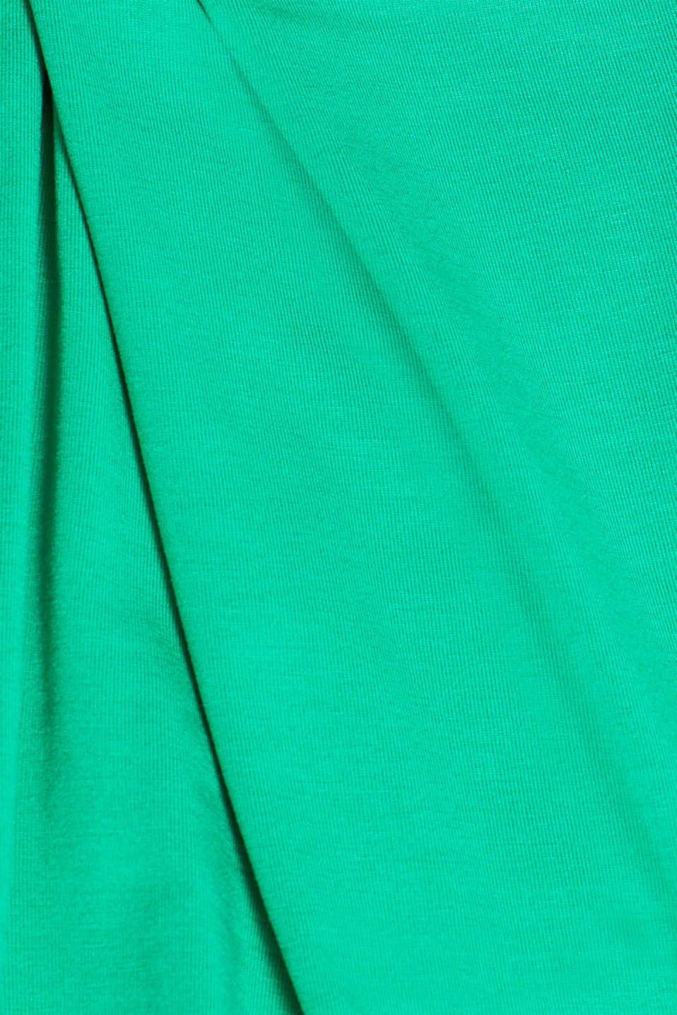 Stretch nursing top with knot detail, LCEMERALD GREEN, detail image number 4