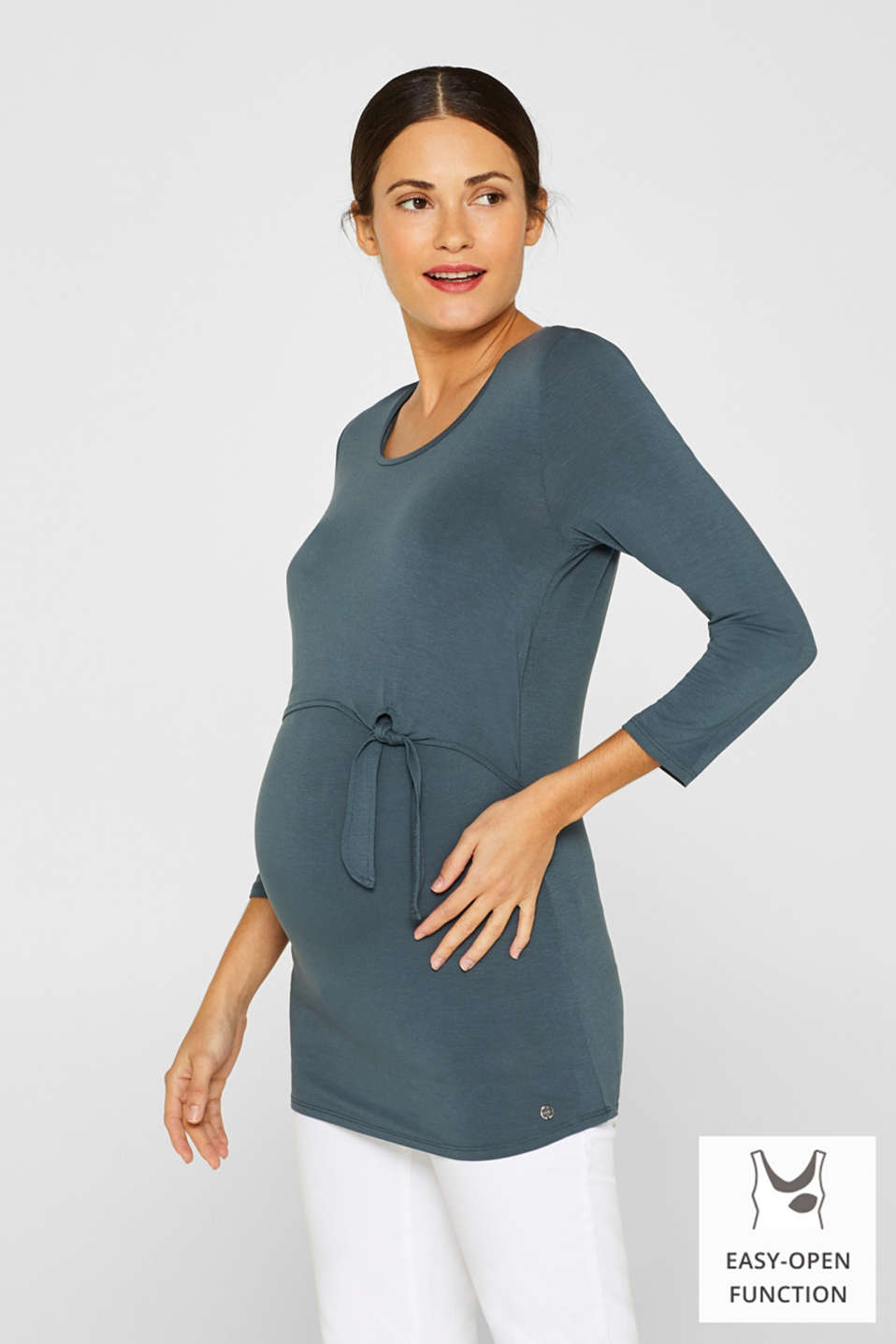 Esprit - Stretch nursing top with knot detail