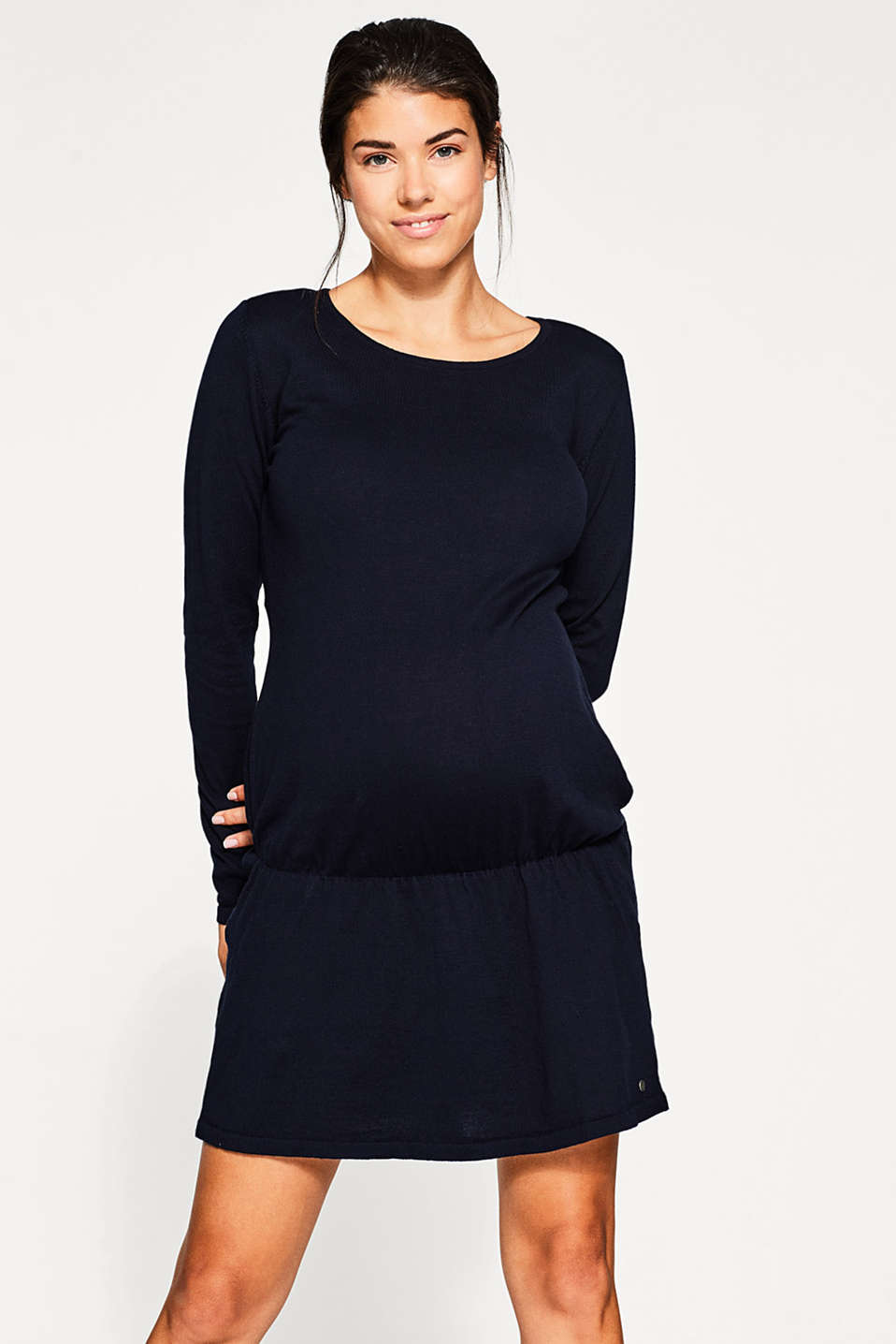 Esprit - Fine-knit tunic in 100% cotton