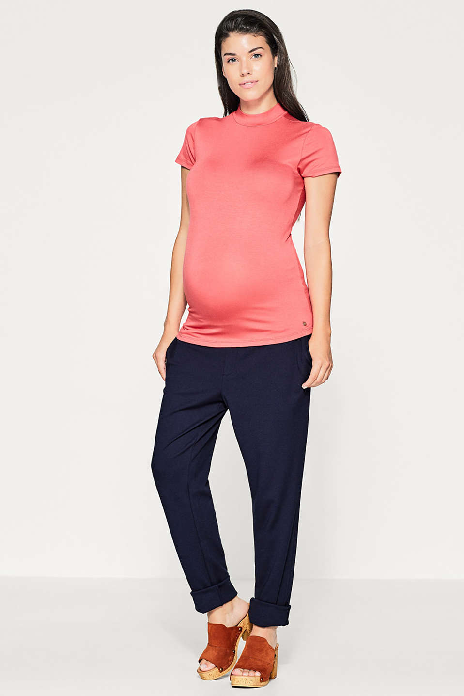 Floaty stretch turtleneck tee