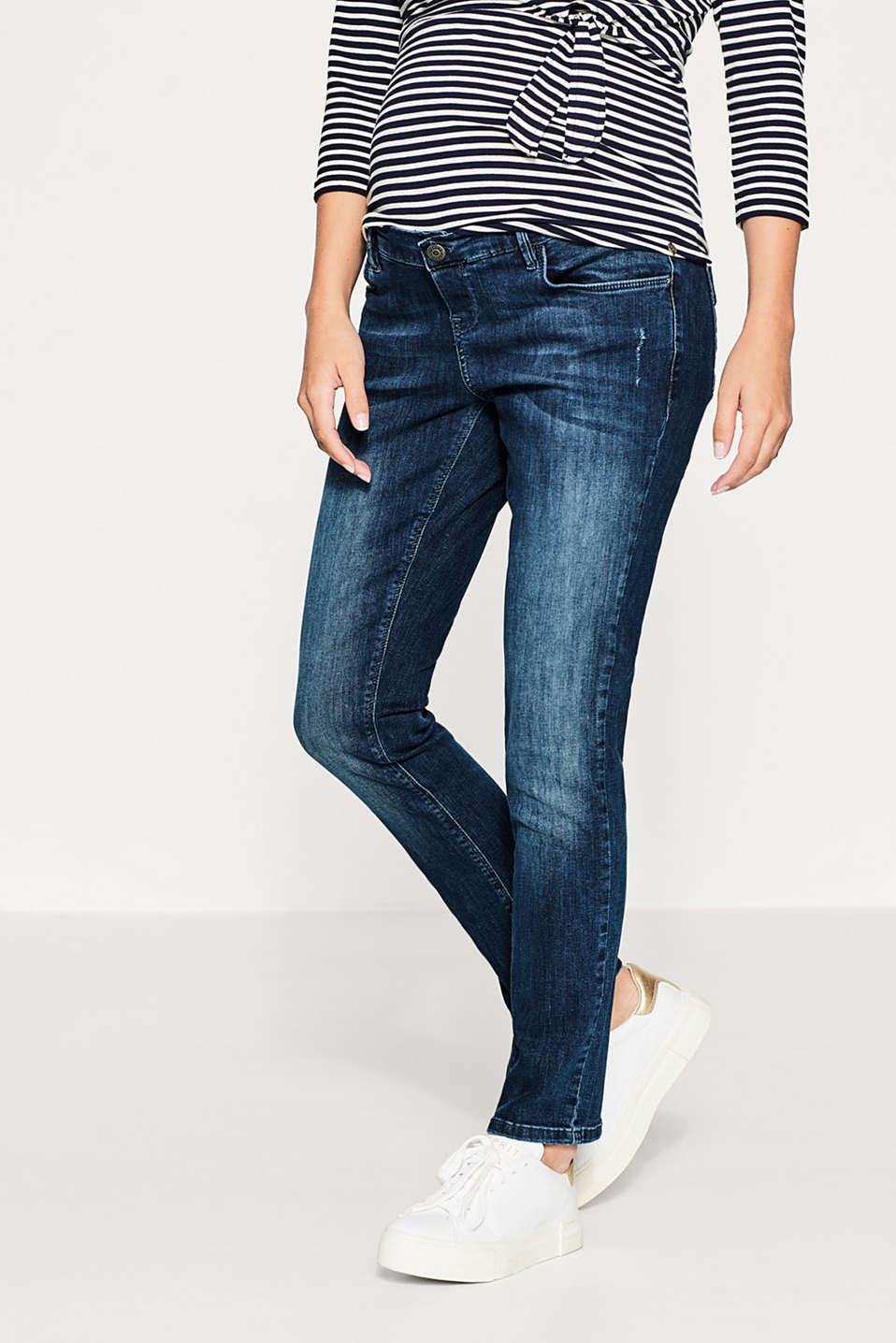 Esprit - Stretch denim jeans, over-bump waistband