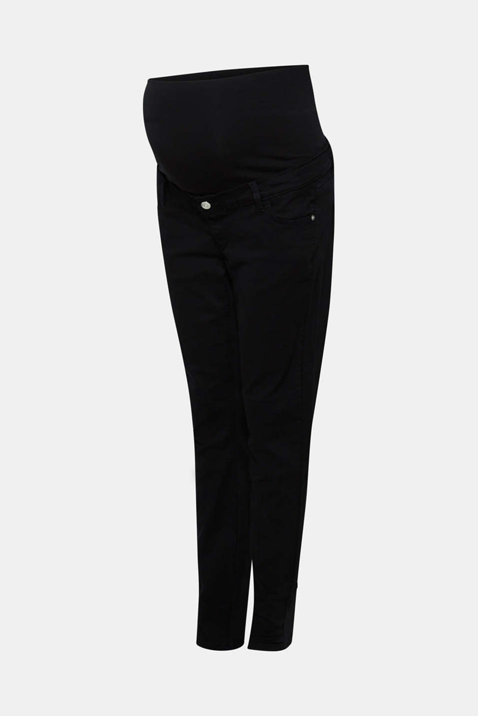 Stretch trousers with an over-bump waistband, LCBLACK, detail image number 0