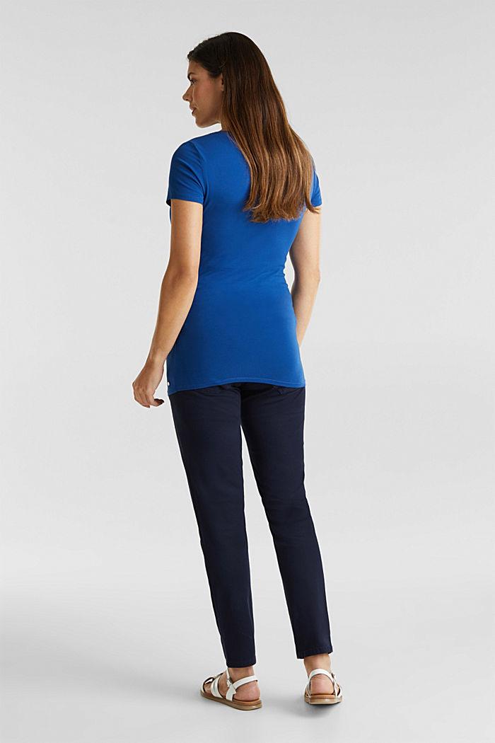 Stretch-Pants mit Überbauchbund, NIGHT BLUE, detail image number 2