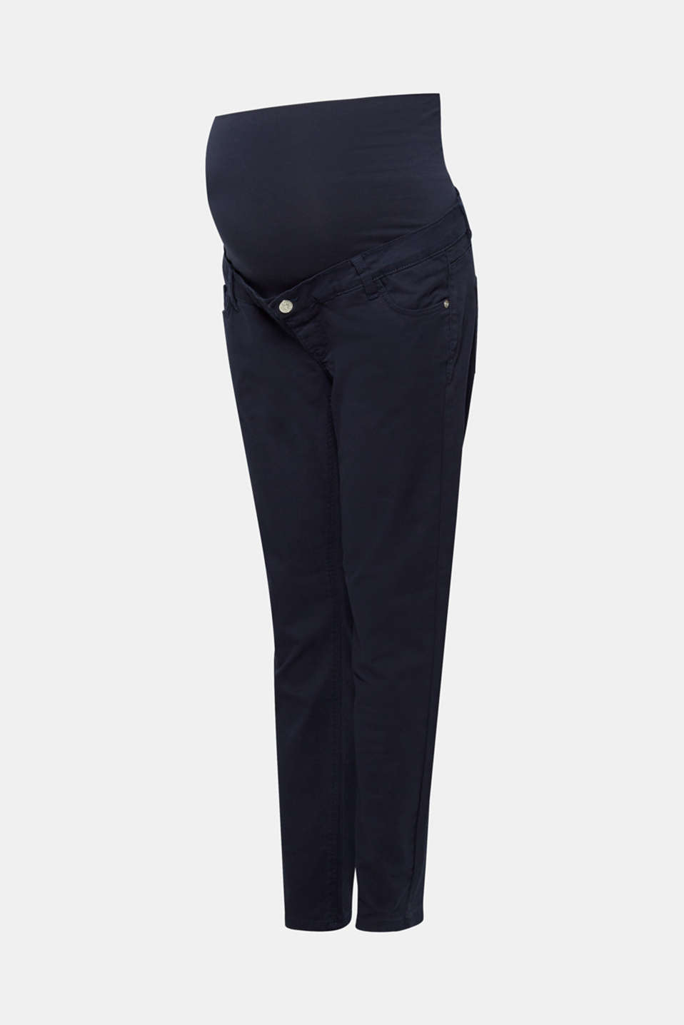 Stretch cotton trousers with an over-bump waistband, LCNIGHT BLUE, detail image number 5
