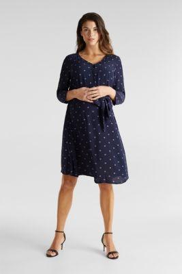 Crinkle nursing dress, LCNIGHT BLUE, detail