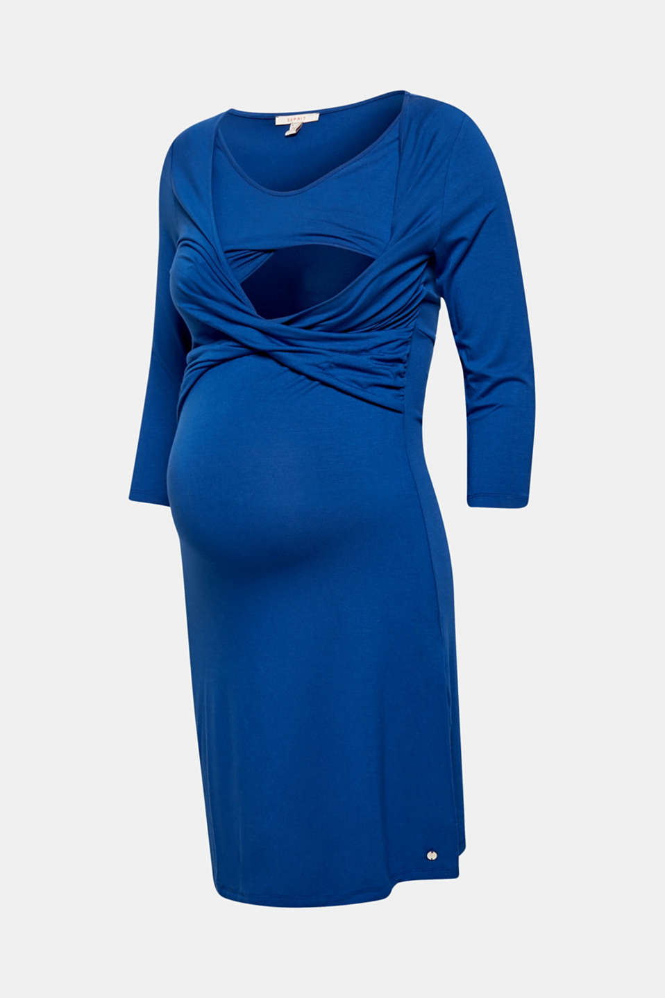 Draped jersey nursing dress, LCINK, detail image number 2