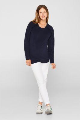 Nursing sweatshirt with frills, LCNIGHT BLUE, detail