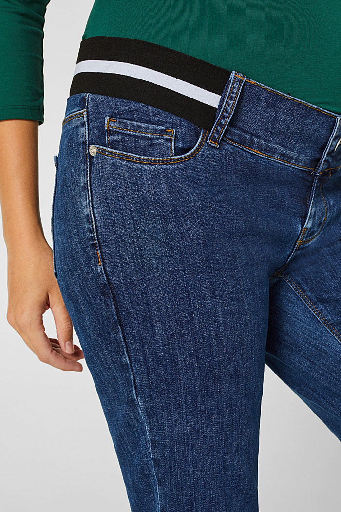 Recycled jeans with an under-bump waistband, BLUE MEDIUM WASHED, detail image number 2