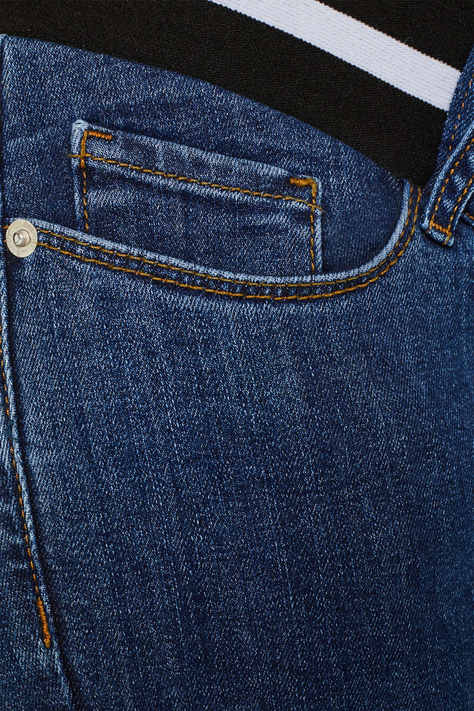 Recycled stretch jeans with an under-bump waistband, LCMEDIUM WASH, detail image number 4