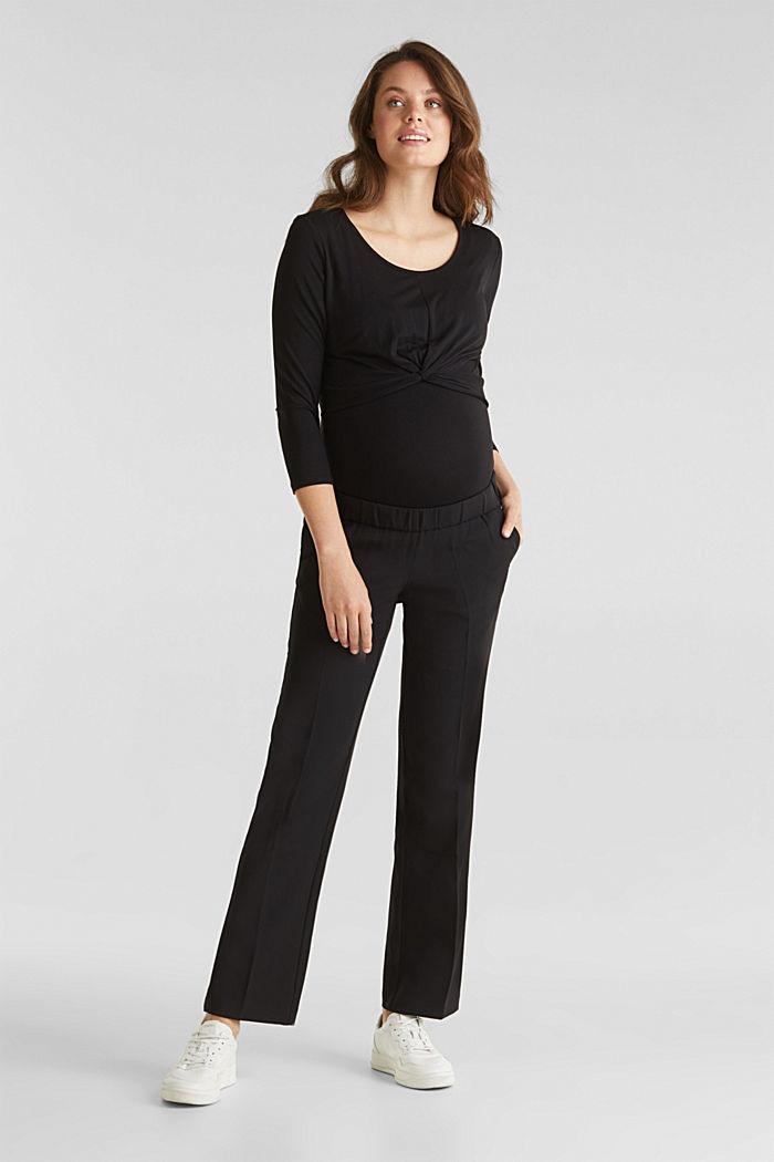 Pants woven, BLACK, detail image number 1