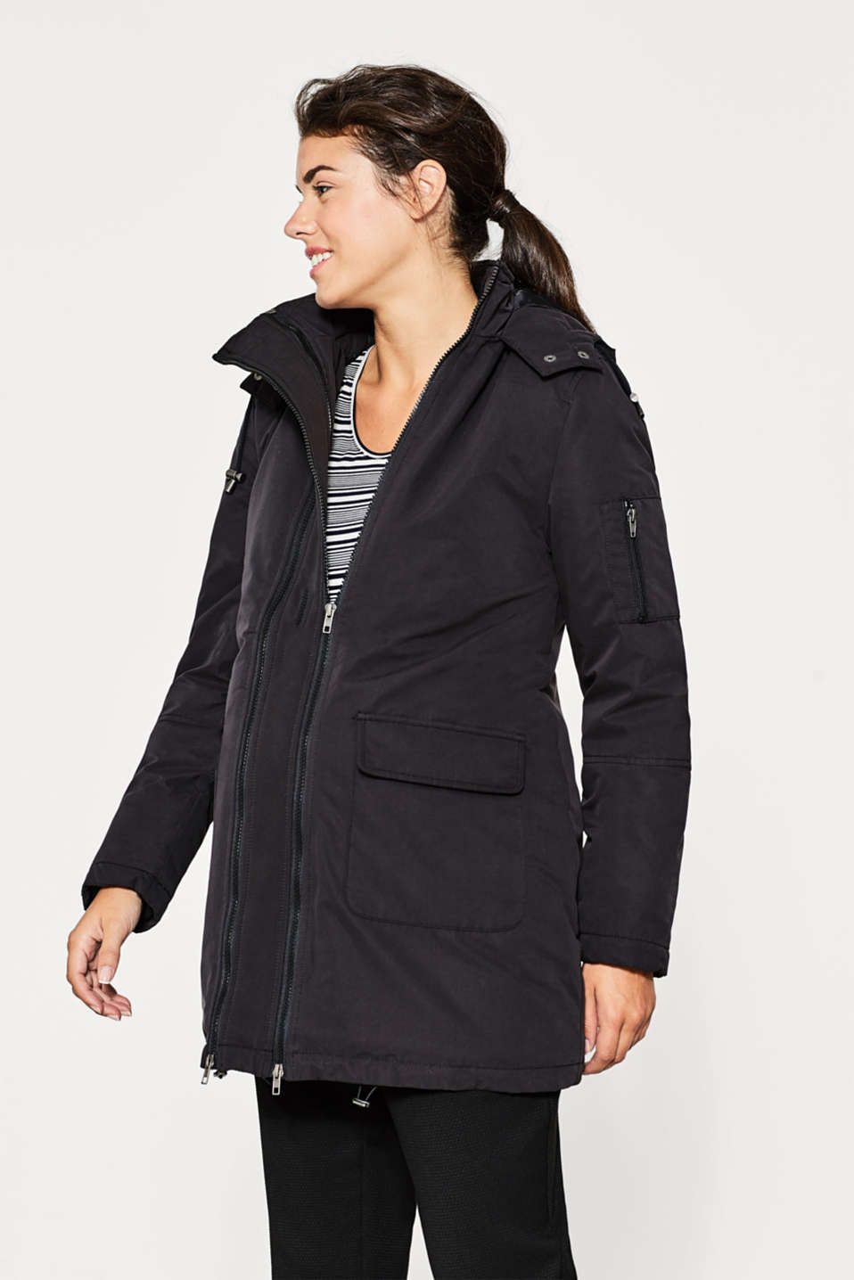 Esprit - Adjustable parka with padding