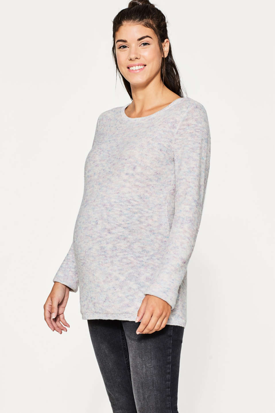 Esprit - Soft melange jumper with linen