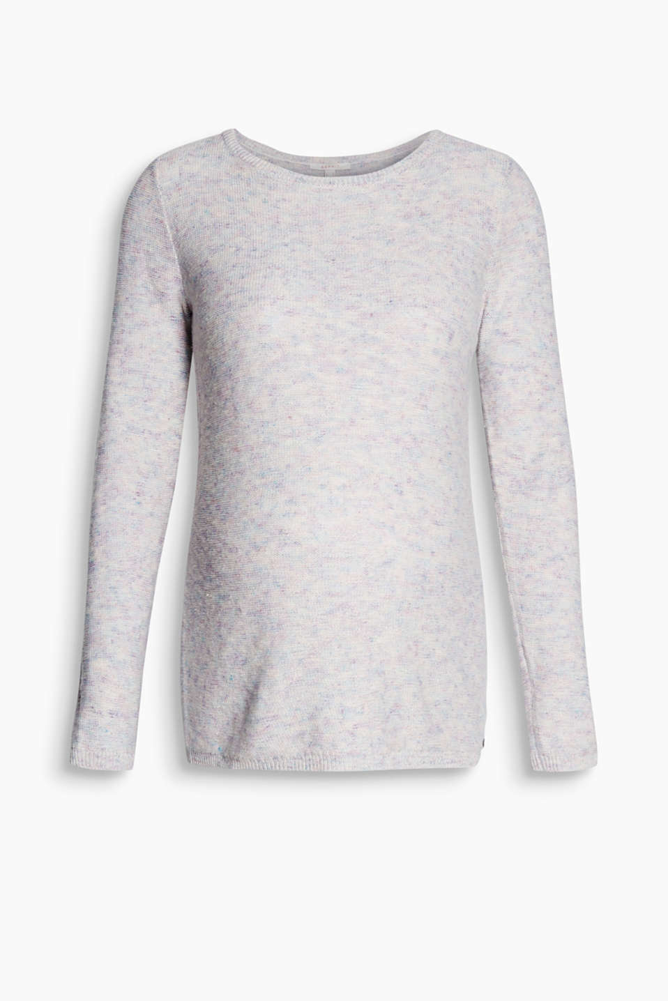 Light and airy jumper made of a linen blend in a trendy melange look