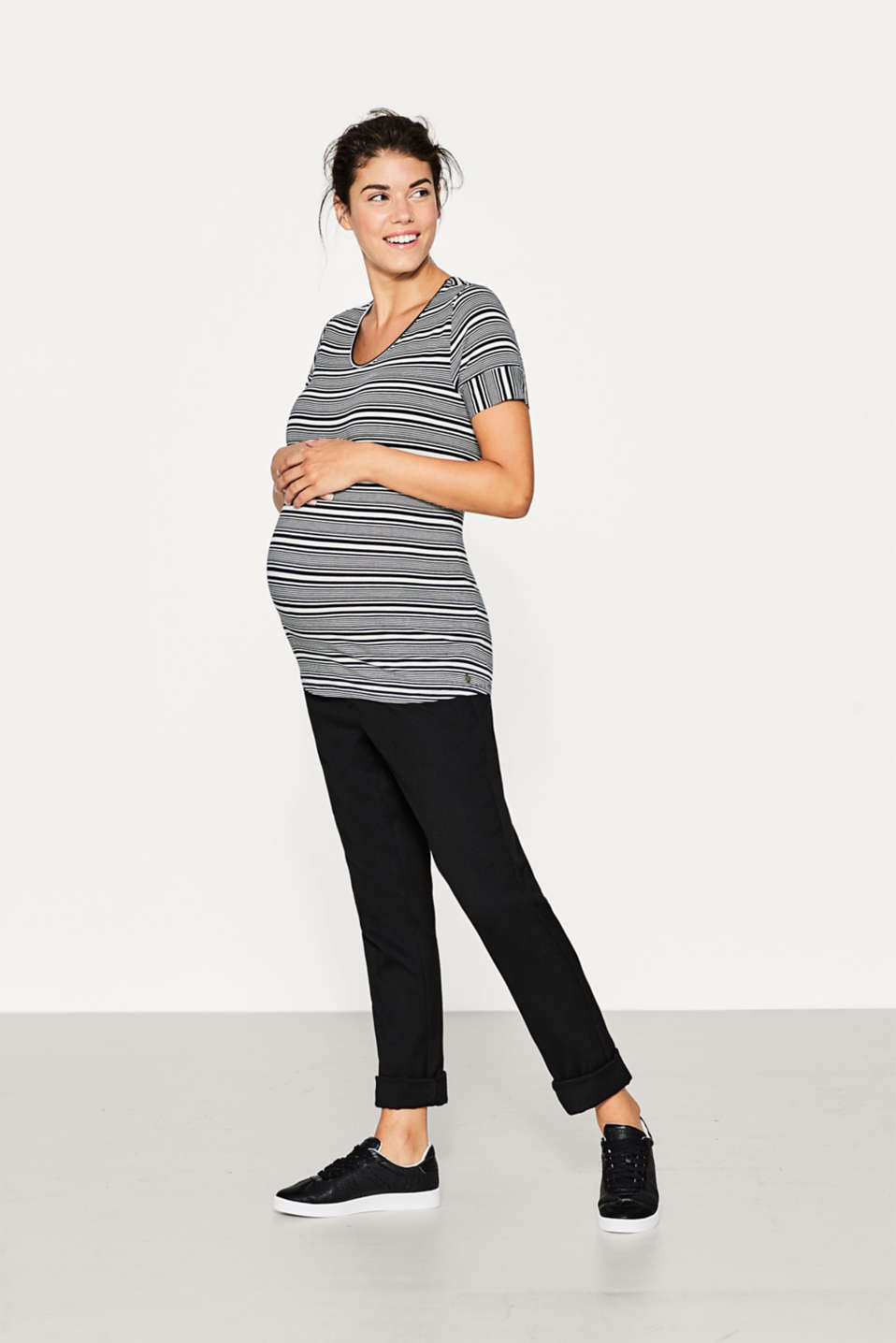 Flowing stretch top with new stripes