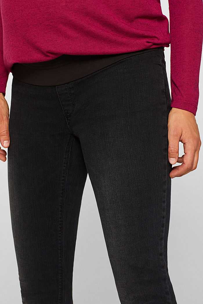 Jeggings with under-bump waistband, BLACK DARK WASHED, detail image number 2