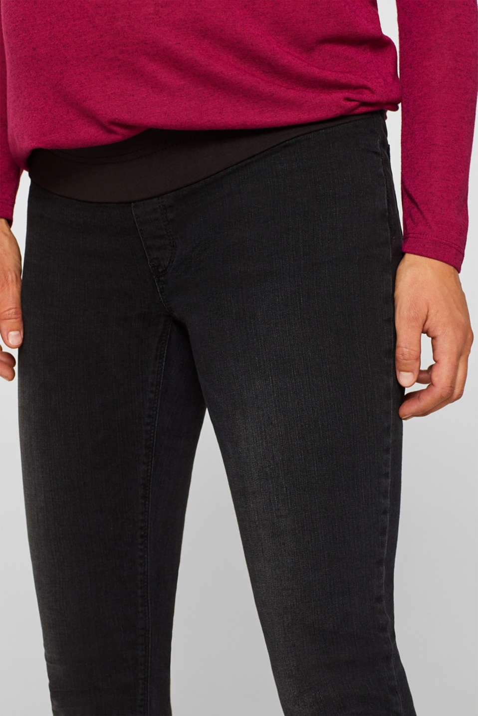 Jeggings with under-bump waistband, LCBLACK DARK WAS, detail image number 2