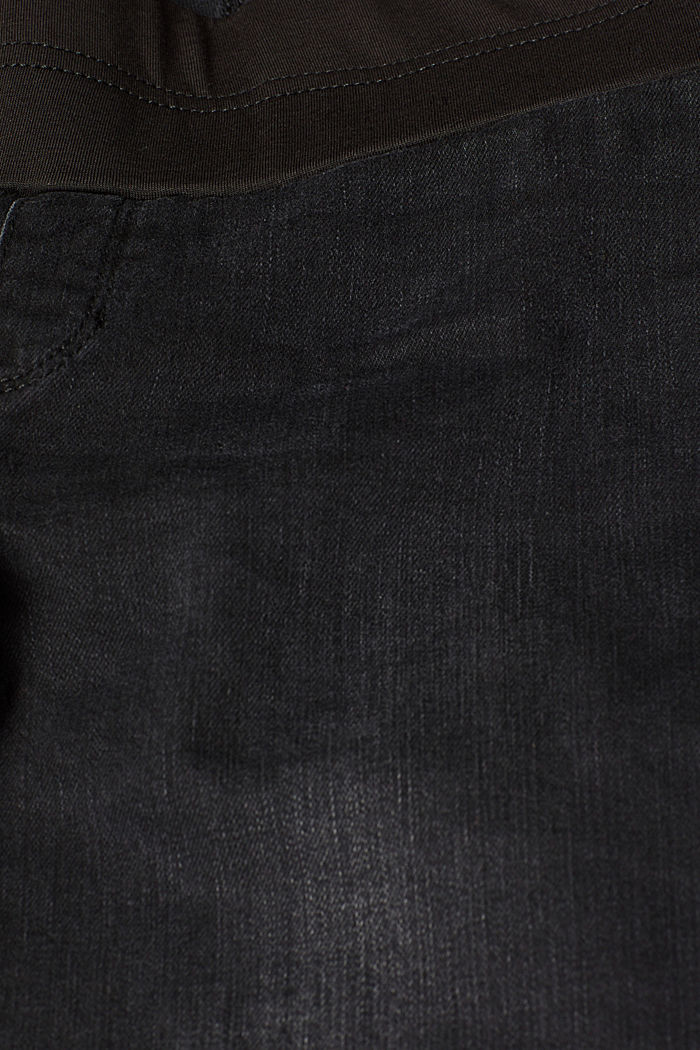 Jeggings with under-bump waistband, BLACK DARK WASHED, detail image number 4