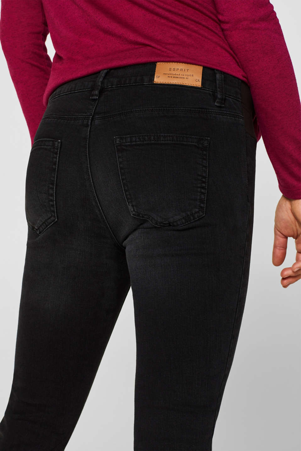 Jeggings with under-bump waistband, LCBLACK DARK WAS, detail image number 5