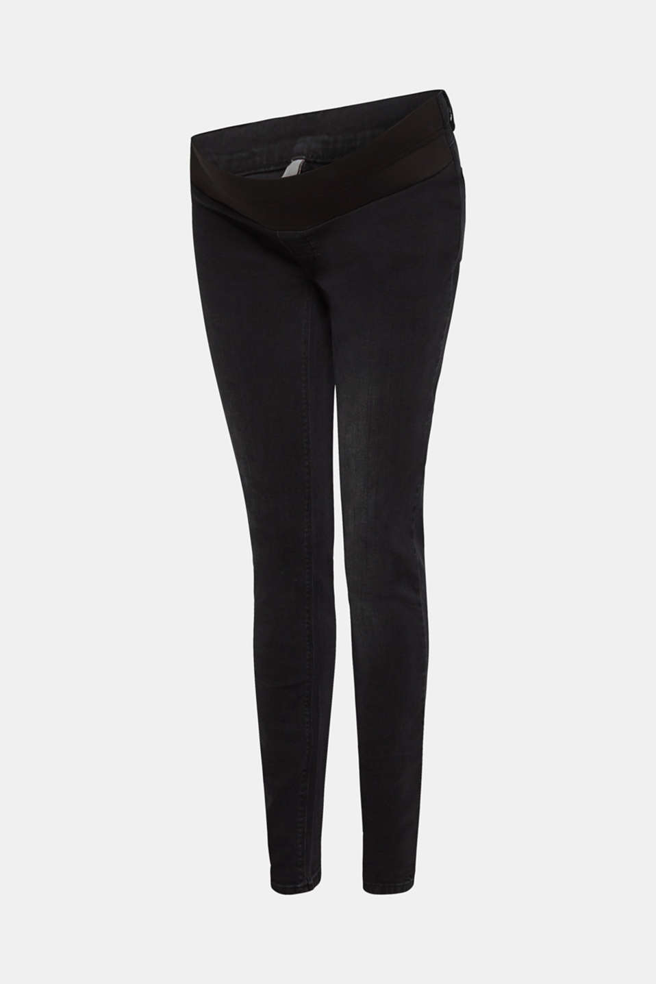 Jeggings with under-bump waistband, LCBLACK DARK WAS, detail image number 6