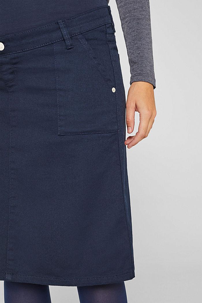 Stretch-Jeansrock mit Überbauchbund, NIGHT BLUE, detail image number 2