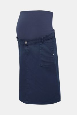 Stretch denim skirt with an over-bump waistband, LCNIGHT BLUE, detail