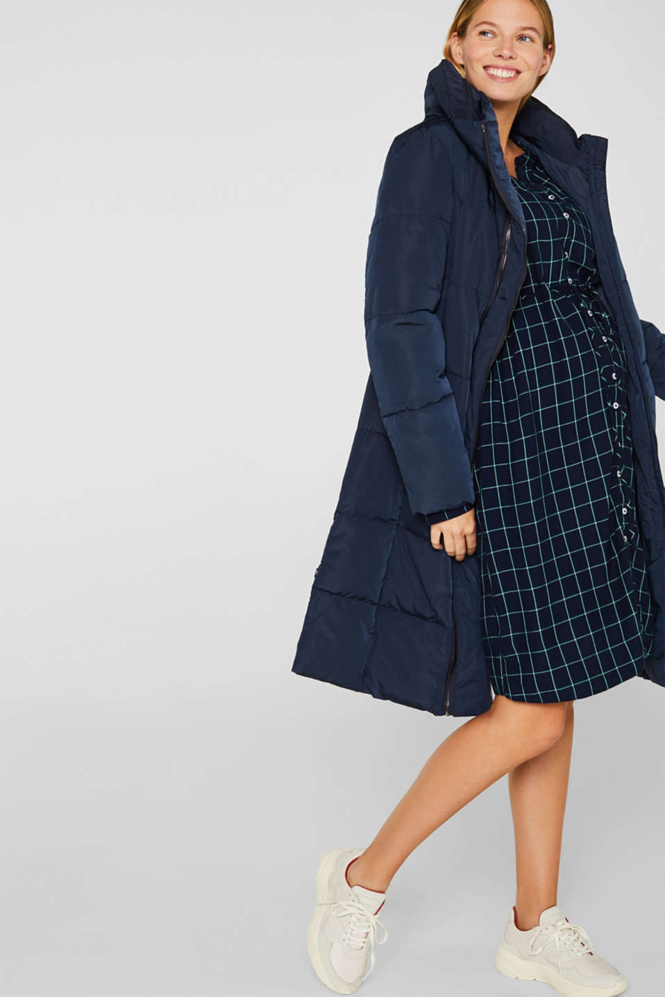 Button-through midi dress, LCNIGHT BLUE, detail image number 1