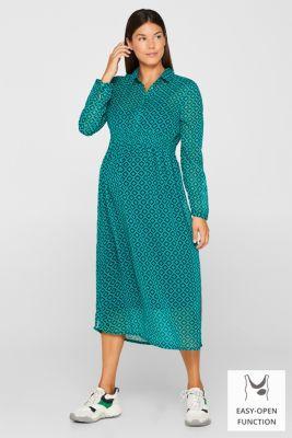 Chiffon nursing dress, LCTEAL GREEN, detail