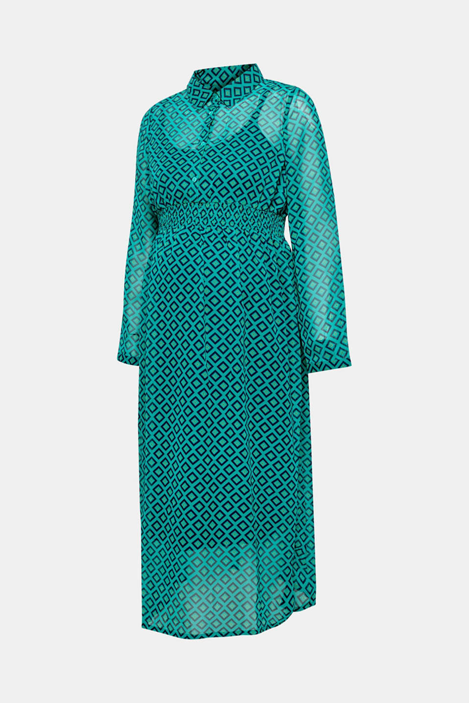 Chiffon nursing dress, LCTEAL GREEN, detail image number 2