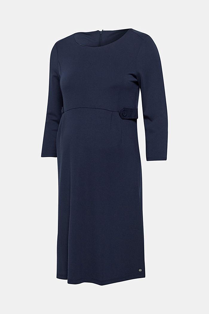 Jersey-Stretch-Kleid mit Taillen-Riegeln, NIGHT BLUE, detail image number 0