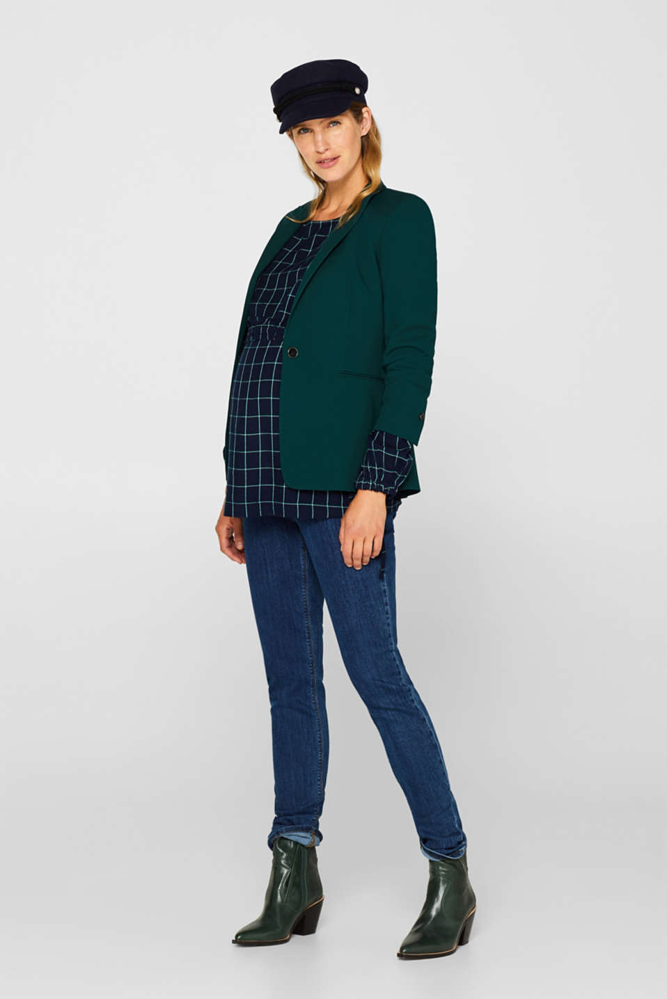 Long, layered blouse with a nursing function, LCNIGHT BLUE, detail image number 1