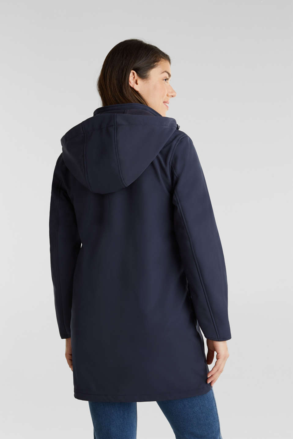 Adjustable three-in-one softshell jacket, LCNIGHT BLUE, detail image number 3