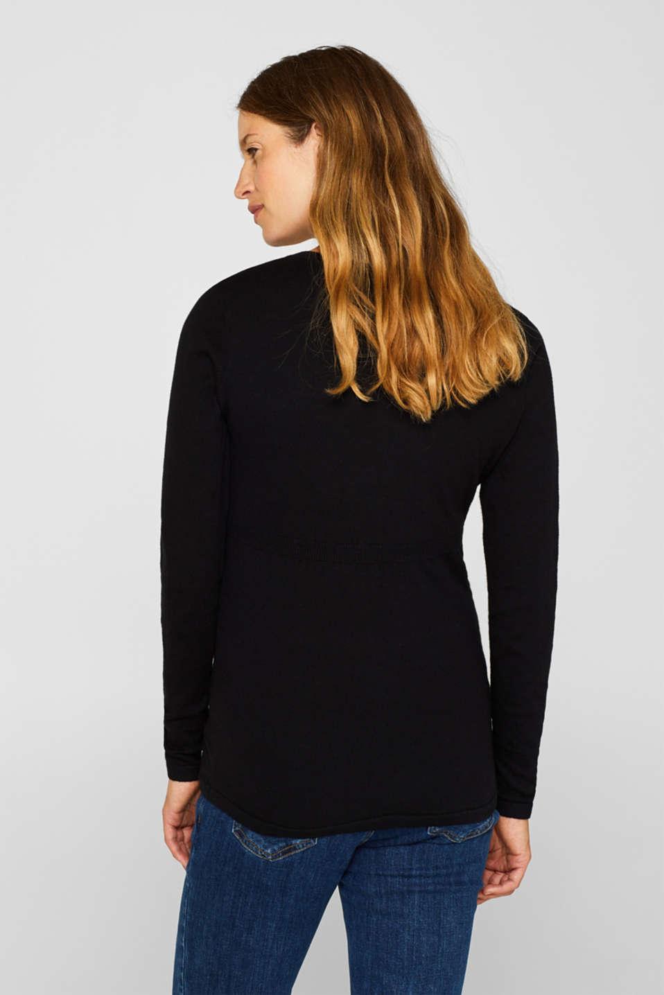 V-neck jumper with cashmere/wool, LCBLACK, detail image number 3
